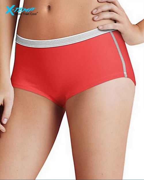 Hanes CA49AS Womens Sport Comfort X-Temp Boyshort Panties with Comfort Flex Waistband 3-Pack