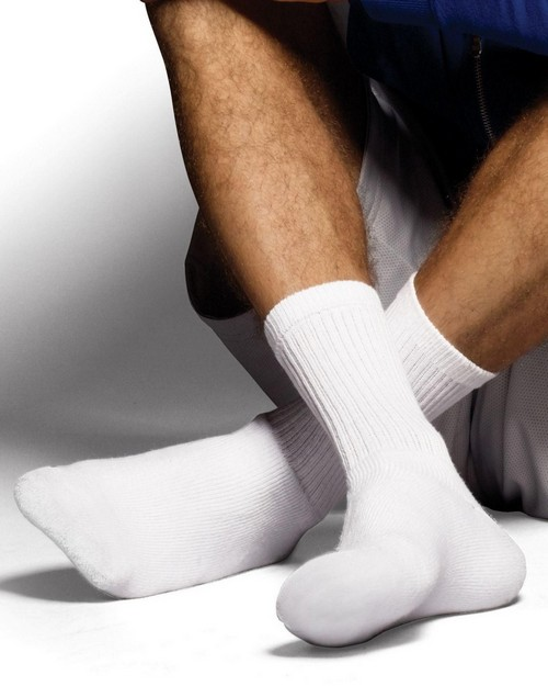 Hanes CL84 Classics Mens ComfortSoft Crew Socks Black 6-Pack