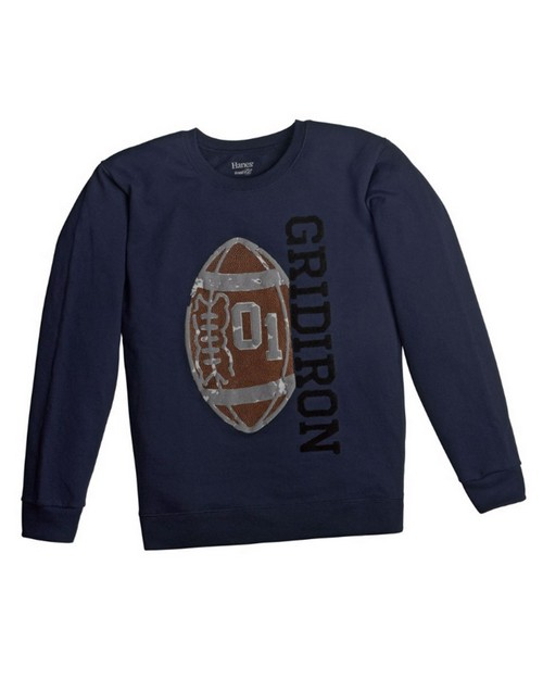 Hanes D199 Boys FreshIQ Fleece Crewneck Graphic Sweatshirt