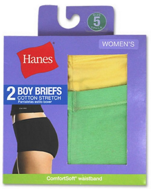 Hanes D49EAS Womens Cotton Stretch Boy Briefs