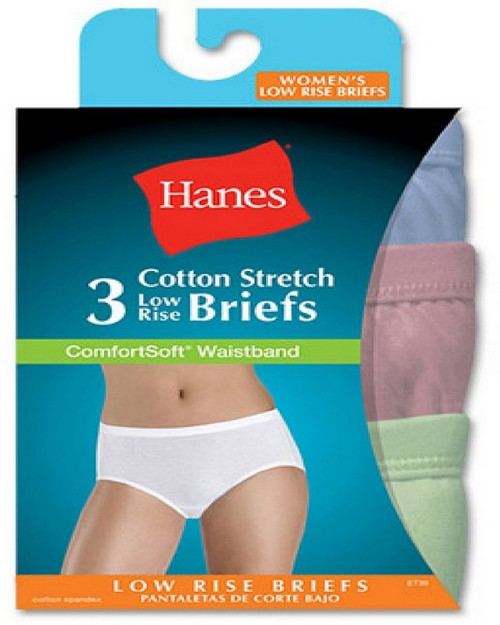 Hanes ET39AS Womens Comfortsoft Waisband Low Rise Briefs