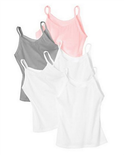 Hanes GCEMW5 Girls Cami 5-Pack