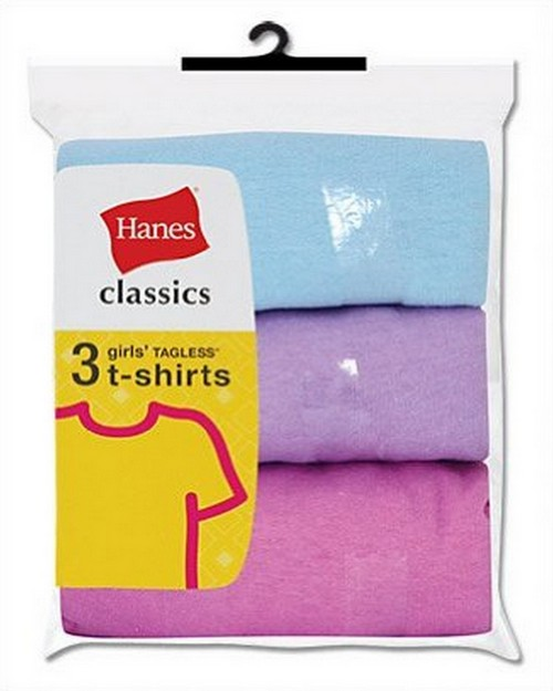 Hanes GNT3AS Classics Girls Crew Tee Shirts