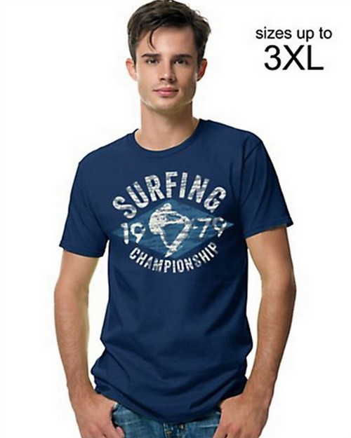 Hanes GT49A Mens Surf Call Graphic Tee