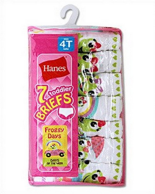 Hanes GTHMT7 Toddler Girls Cotton Briefs