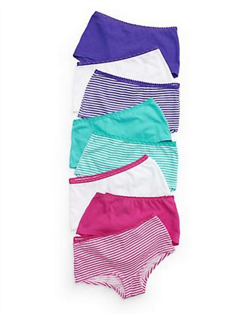 Hanes GWLSP8 Girls ComfortSoft Lace Boyshort 8-Pack
