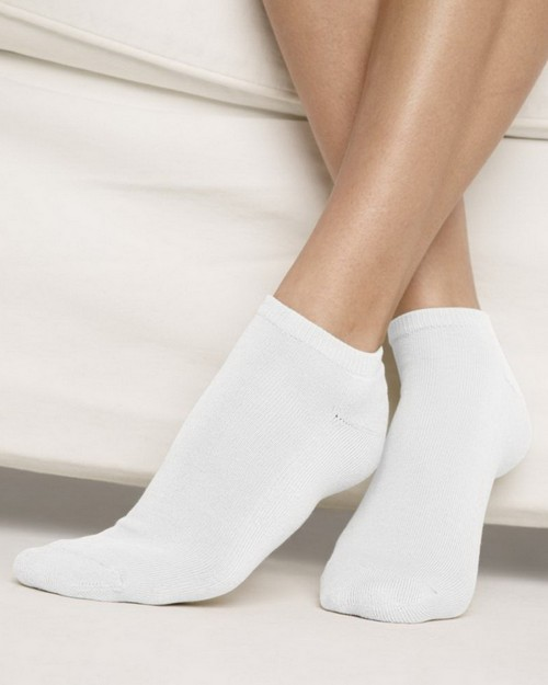 Hanes H035 Womens Cushion Low Cut Ankle Socks 3-Pack
