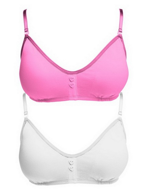 Hanes H136 Girls Scoopneck Bralette with removable Foam Pads 2-Pack