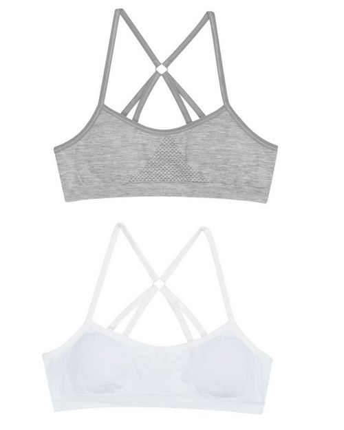 Hanes H153 Girls Molded T-Back Bra 2-Pack