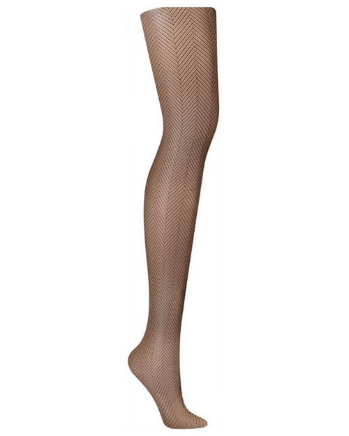 Hanes HFT002 Fishnet Herringbone Tights