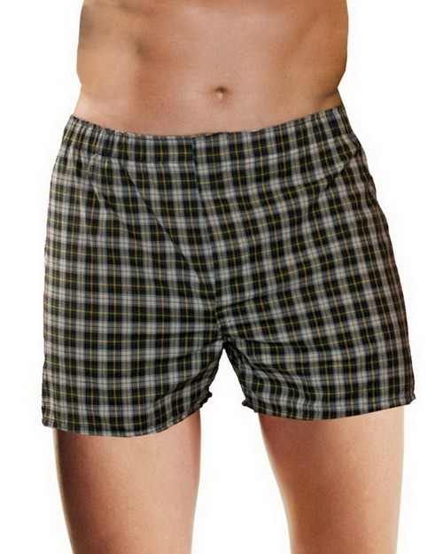 Hanes HN155W Mens TAGLESS Woven Boxers with Comfort Flex Waistband 3X-5X (Pack of 3)