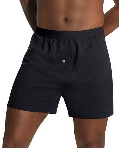 Hanes HN255K Mens TAGLESS Knit Boxers with Comfort Flex Waistband (Pack of 3)