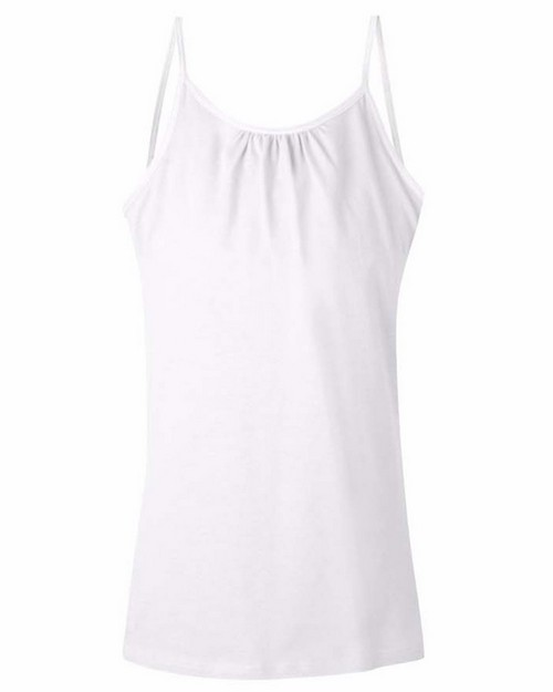 Hanes K702 Girls Cami With Shelf Bra
