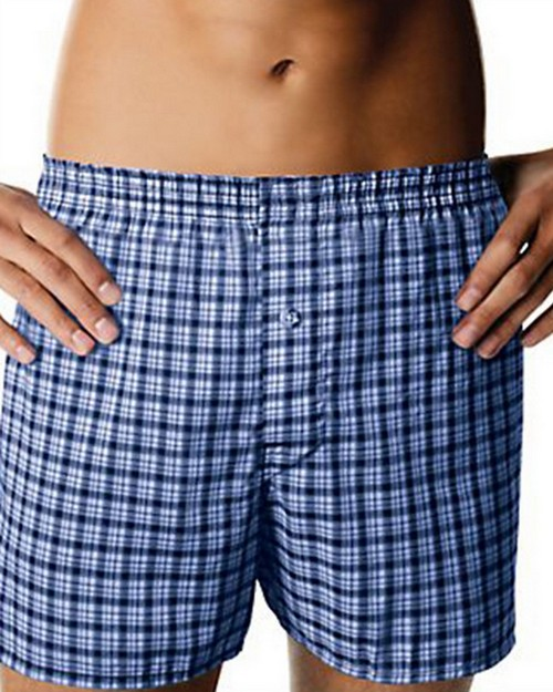 Hanes MBBXD3 Mens ComfortBlend Woven Boxers with Comfort Flex Waistband 3-Pack