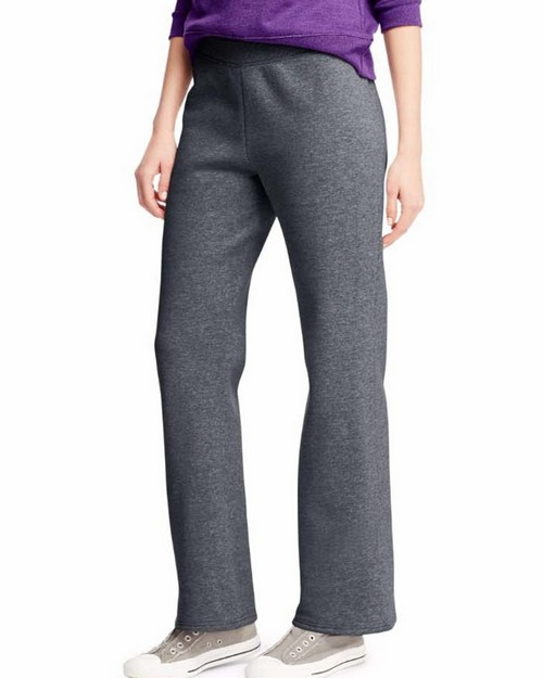 Hanes O4629 Comfortsoft Ecosmart Womens Open Leg Fleece Sweatpants