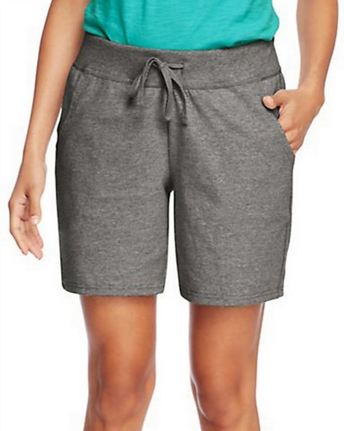 Hanes O9264 Womens Jersey Pocket Short