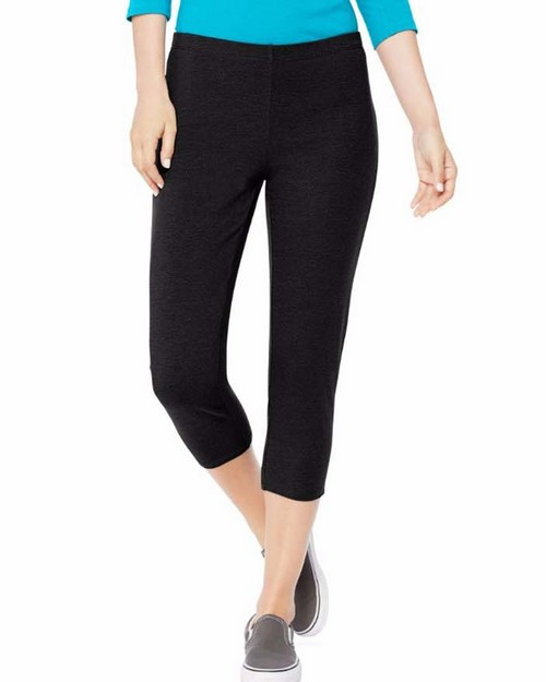 Hanes O9293 Womens Stretch Jersey Capri