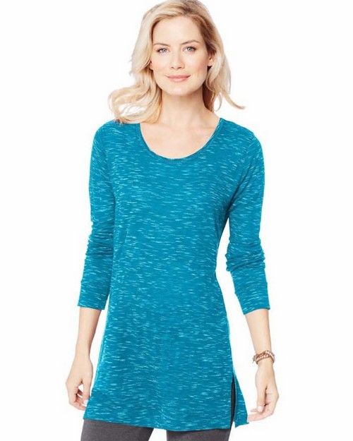 Hanes O9300 Womens Lightweight Space-Dye Vented Tunic