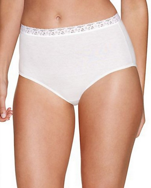 Hanes PL40AS Womens Cotton No Ride Up Brief with Lace 5-Pack