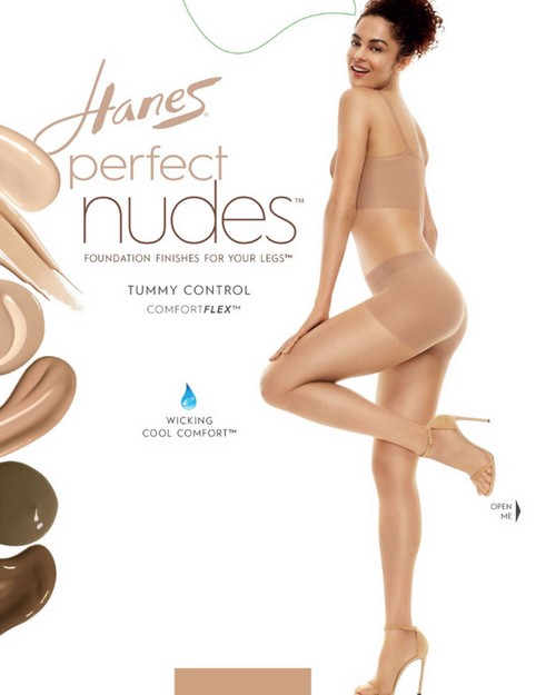 Hanes PN0001 Perfect Nudes Run Resistant Tummy Control Girl Short Hosiery