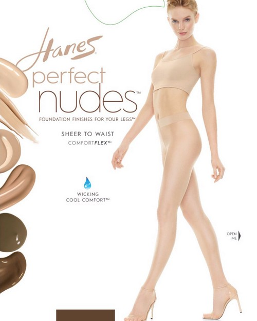 Hanes PN0002 Perfect Nudes Sheer To Waist Run Resistant Light Tummy Control Hosiery