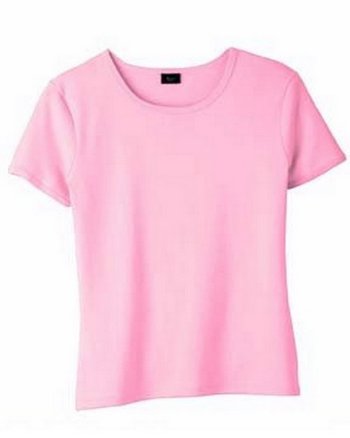Hanes S10C Silver For Her Classic Fit 1x1 Rib T-Shirt
