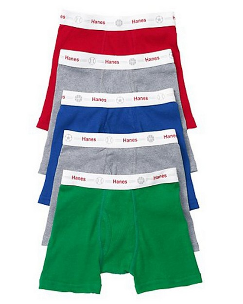 Hanes TB74P5 Toddler Boys Label Exposed WB Boxer Brief (Pack of 5)