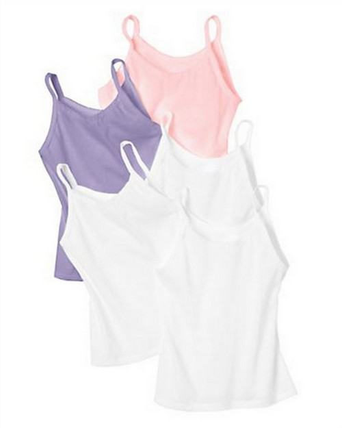 Hanes TV30A5 Toddler Girls Cami Assorted 5-Pack