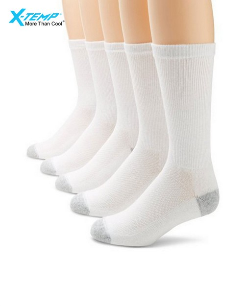 Hanes U10 Mens Ultimate X-Temp Crew Socks (Pack Of 5)