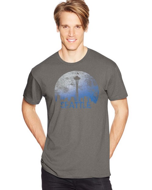 Hanes Y07072 Mens Space Seattle Graphic Tee