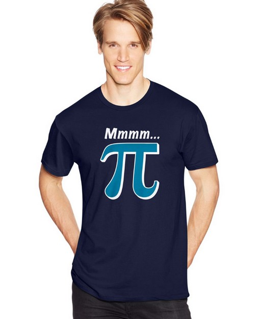 Hanes Y07073 Mens Pi Lover Graphic Tee