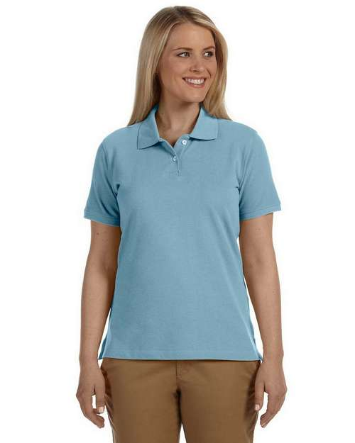 Harriton M100W Ladies Cotton Pique Short-Sleeve Polo