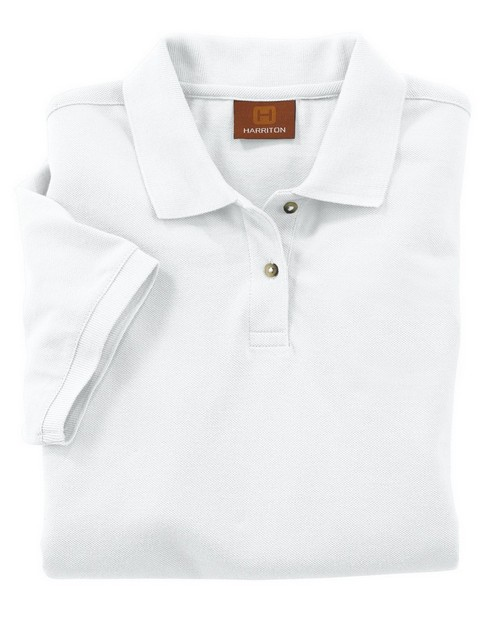 Harriton M200W Ladies Ringspun Cotton Pique Short-Sleeve Polo