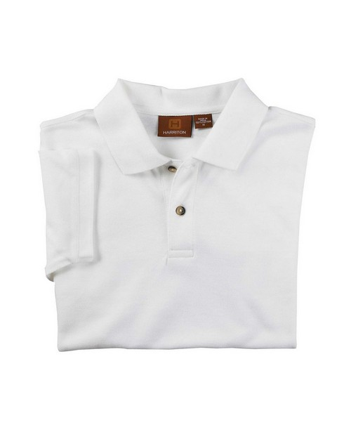 Harriton M200Y Youth Ringspun Cotton Pique Short-Sleeve Polo