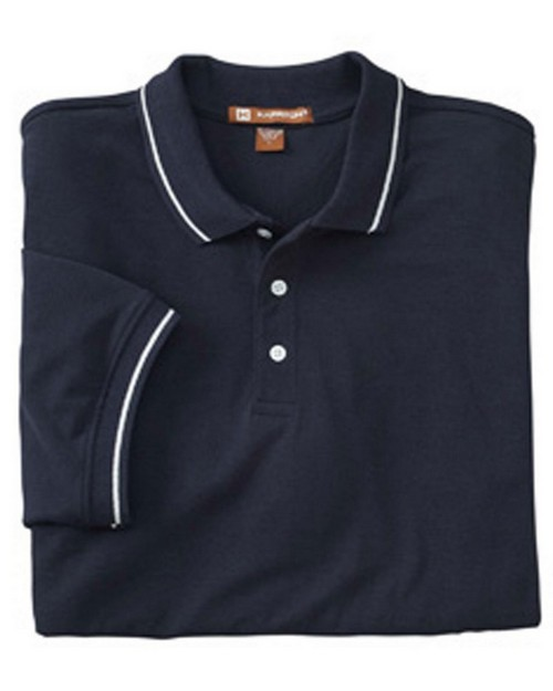Harriton M270 Tipped Easy Blend Polo