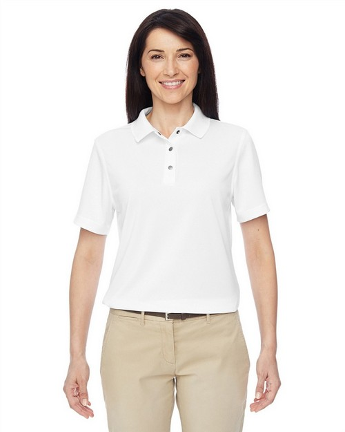 Harriton M345W Ladies Advantage IL Snap Placket Performance Polo