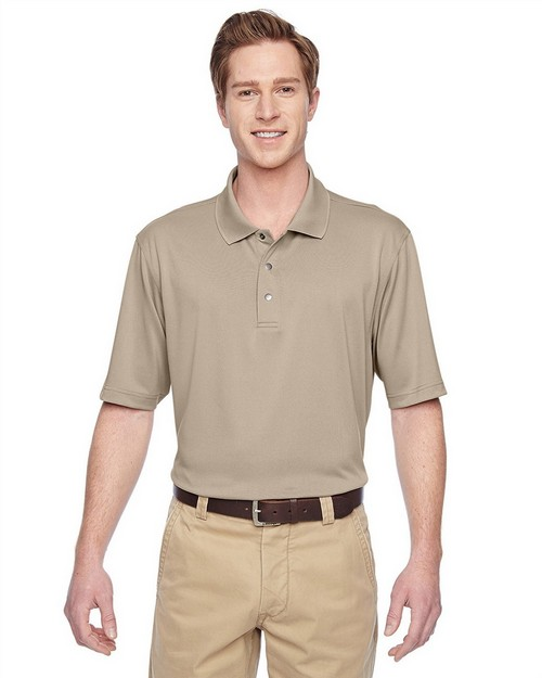 Harriton M345 Mens Advantage IL Snap Placket Performance Polo