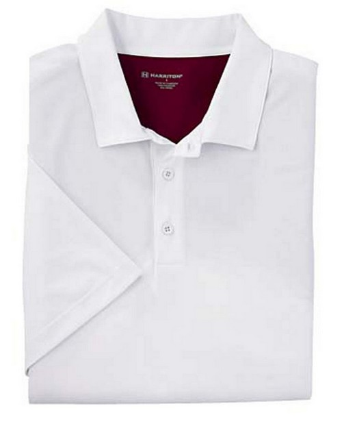 Harriton M356 Men's Back Blocked Micro Pique Polo