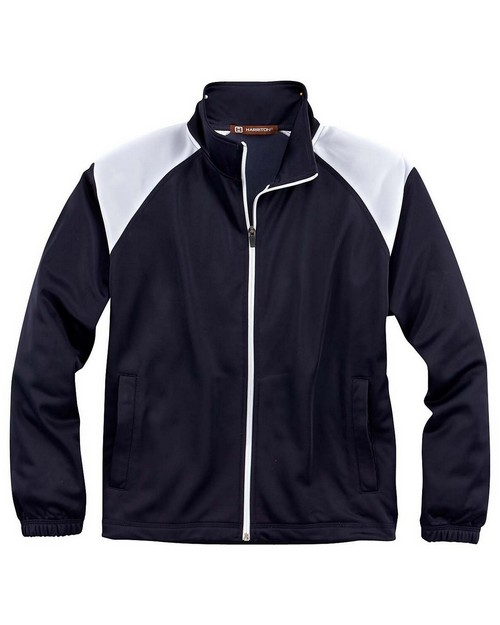 Harriton M390W Ladies Tricot Track Jacket