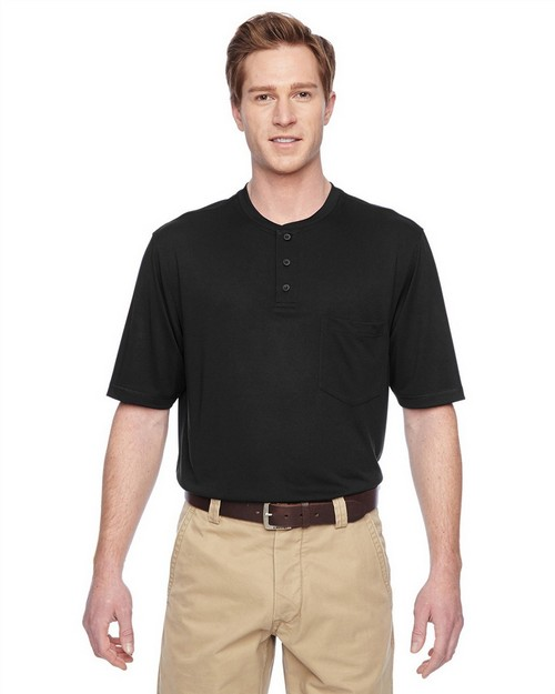 Harriton M400 Adult Prime Short Sleeve Performance Henley