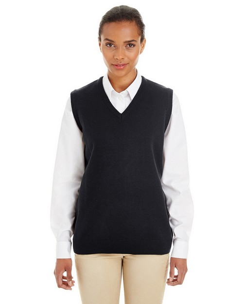 Harriton M415W Ladies Pilbloc V-Neck Sweater Vest