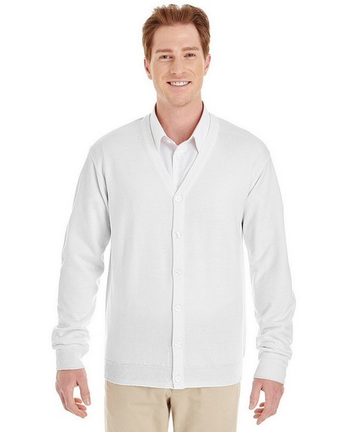 Harriton M425 Mens Pilbloc V-Neck Button Cardigan Sweater