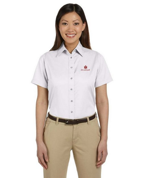 Harriton M500SW Ladies Twill Shirt with Stain-Release