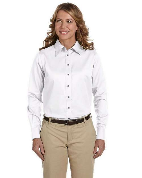 Harriton M500W Ladies Twill Shirt with Stain Release