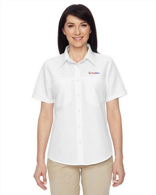 Harriton M580W Ladies Key West Short Sleeve Performance Staff Shirt