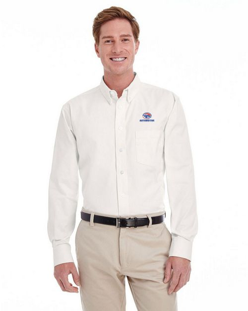 Harriton M581T Mens Tall Foundation Twill Shirt with Teflon