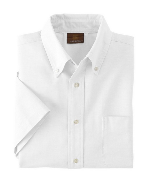 Harriton M600S Short-Sleeve Oxford with Stain Release