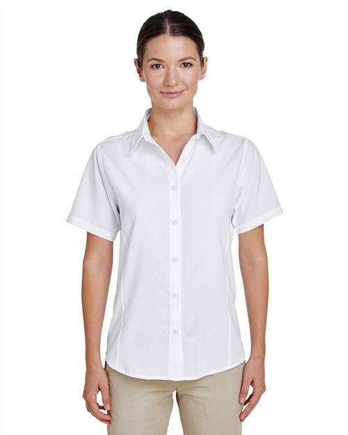 Harriton M610SW Ladies Paradise Short-Sleeve Performance Shirt