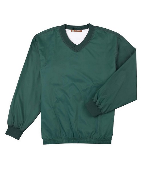 Harriton M720 Mens Athletic V-neck Pullover Jacket