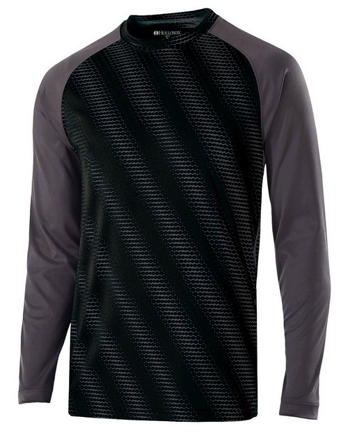 Holloway 222211 Youth Polyester Long Sleeve Training Torpedo Shirt